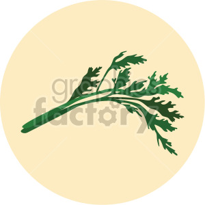 parsley on yellow circle background clipart. Commercial use image # 407970