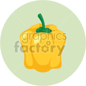 yellow bell pepper on circle background clipart. Commercial use image # 408007