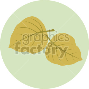 two leaves on green circle background clipart. Royalty-free image # 408060