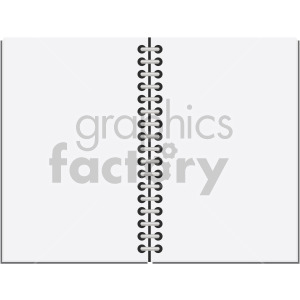 open notebook no background clipart. Royalty-free image # 408102
