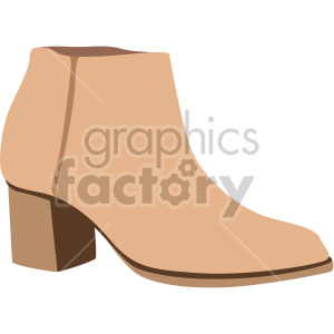 womens ankle boot clipart. Commercial use image # 408159