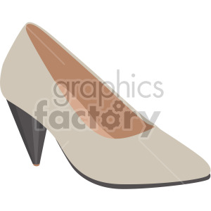 cone heels shoes clipart. Commercial use image # 408162