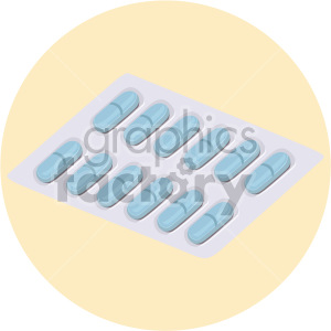 pill package on yellow background