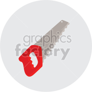 saw on circle background clipart. Commercial use image # 408248