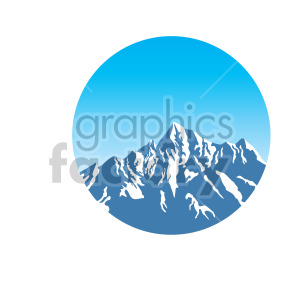 mountain top design clipart. Commercial use icon # 408308