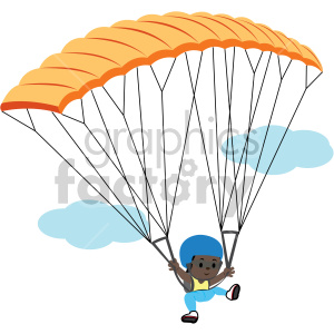 african american female parachuting clipart. Royalty-free image # 408398