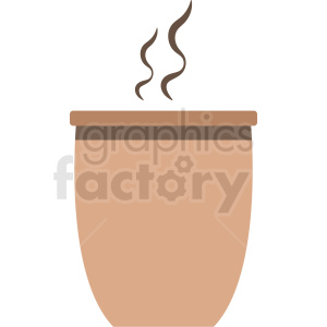steaming coffee mug vector