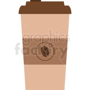 coffee cup vector icon clipart. Commercial use image # 408462
