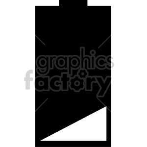 battery icon design v2 clipart. Royalty-free image # 408487