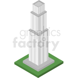 isometric building vector icon clipart. Commercial use image # 408497