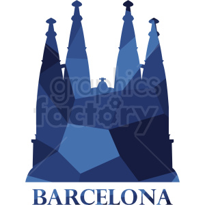 barcelona blue label vector clipart. Royalty-free image # 408510