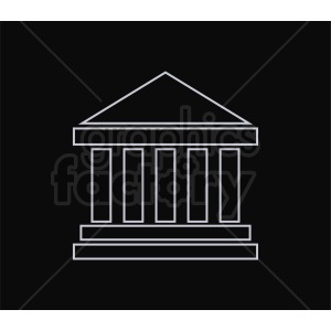 museum vector icon outline clipart. Commercial use image # 408525