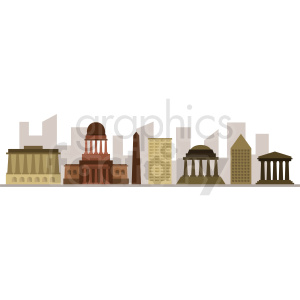 downtown washington city skyline vector design no label clipart. Royalty-free image # 408547