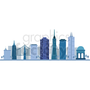 san francisco city skyline vector design no label clipart. Commercial use icon # 408585