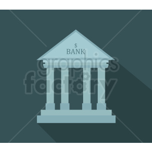 bank icon on dark background clipart. Royalty-free image # 408595
