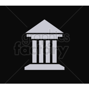 museum vector icon on black clipart. Commercial use image # 408612