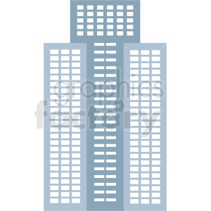 downtown buildings vector