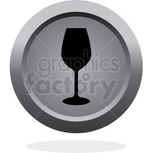 wine glass vector button icon clipart. Royalty-free image # 408680