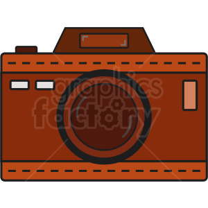leather vector camera icon clipart. Royalty-free image # 408684