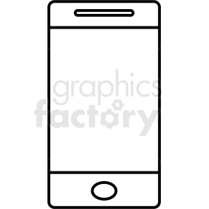 smartphone outline vector design no background