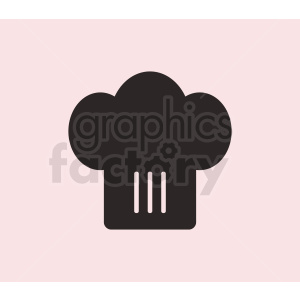 chef hat vector icon on pink background clipart. Commercial use image # 408747