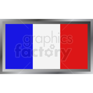 french flag badge clipart. Royalty-free image # 408752