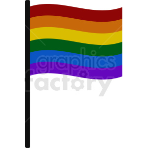 rainbow flag clipart. Commercial use image # 408782