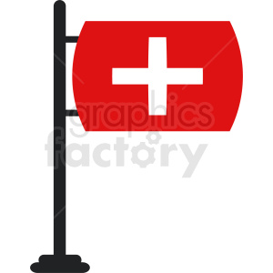first aid flag clipart. Royalty-free image # 408795