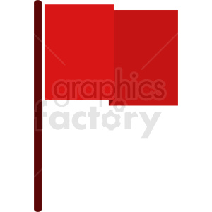 square red flag icon no background clipart. Royalty-free image # 408802