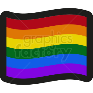 rainbow flag icon clipart. Royalty-free image # 408835