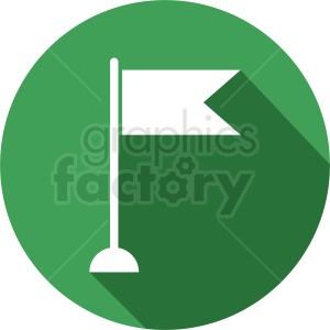 flag icon on circle green background