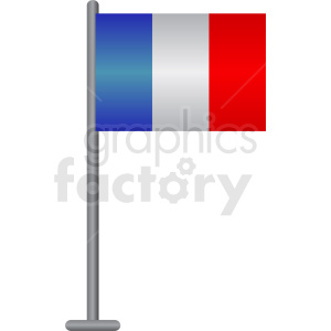 french flag pole clipart. Commercial use image # 408852