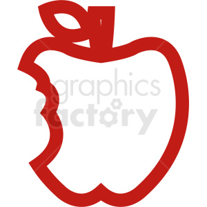 red cartoon apple outline clipart. Royalty-free image # 408875