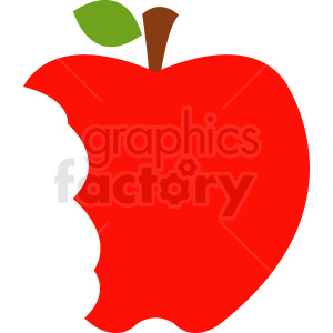 red apple with bites taken out clipart. Royalty-free image # 408885