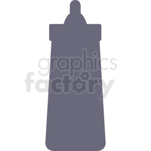 ketchup bottle vector silhouette clipart. Royalty-free image # 408890