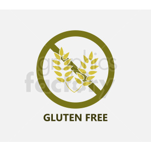 gluten free symbol on gray background clipart. Commercial use image # 408902