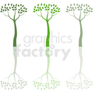 three trees design clipart. Commercial use image # 408912