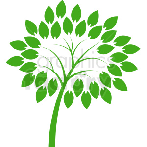 vector green tree design clipart. Royalty-free image # 408917