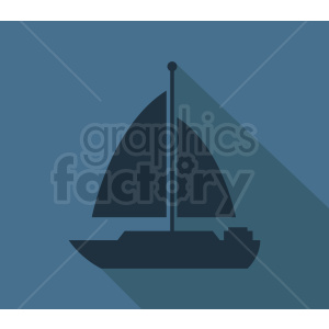 sail boat icon design