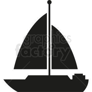 black sail boat icon design clipart. Royalty-free image # 408992