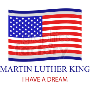 Martin Luther king vector icon clipart. Royalty-free image # 409017