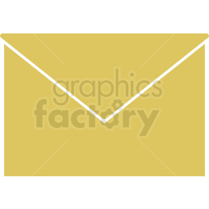 yellow vector envelope icon clipart. Commercial use image # 409021