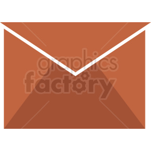 brown vector envelope icon clipart. Commercial use image # 409023