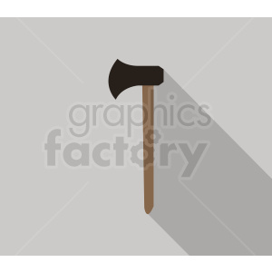 wood axe on square background clipart. Royalty-free image # 409060