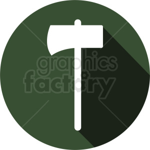 axe icon on green background clipart. Royalty-free image # 409070