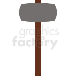 large cartoon hammer icon clipart. Royalty-free image # 409108