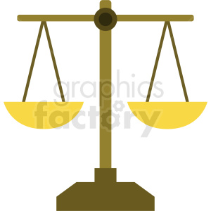 cartoon justice scale vector clipart. Commercial use image # 409115
