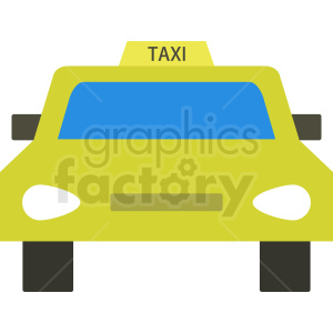 taxi car vector clipart. Royalty-free image # 409133