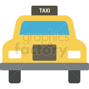 yellow taxi vector clipart. Commercial use image # 409135
