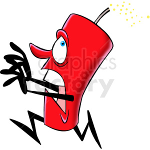 cartoon dynamite character running clipart. Royalty-free image # 409299